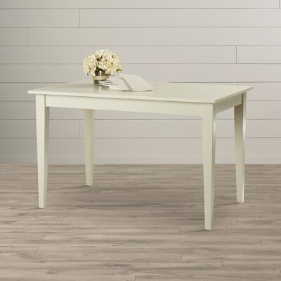 Camille Dining Table Color: Antique Ivory