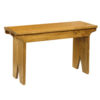 Nellie Rural French Style Wood Bench Color: Beige