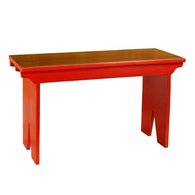 Nellie Rural French Style Wood Bench Color: Red