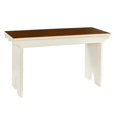 Nellie Rural French Style Wood Bench Color: White
