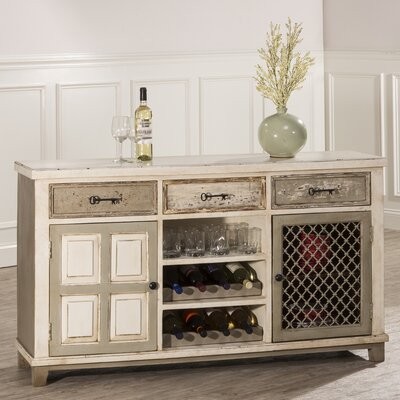 Zettie Bar Cabinet with wine storage