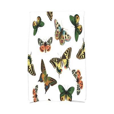 Swan Valley Butterflies Wildlife Print Hand Towel Color: White