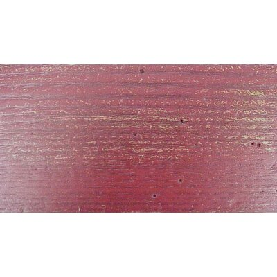South Port Bench Color: WoodLeaf Red