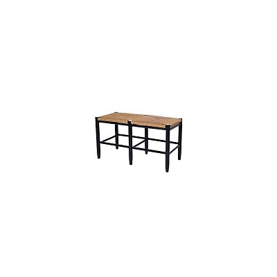 South Port Bench Color: WoodLeaf Black