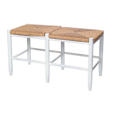 South Port Bench Color: WoodLeaf White