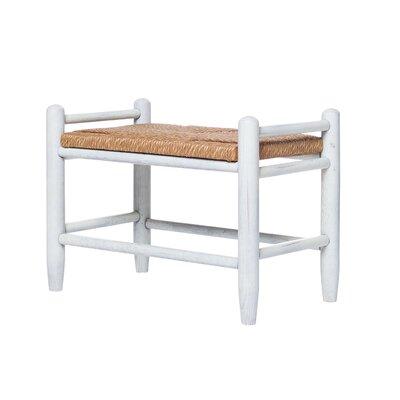 Rigby Fireside Vanity Stool Color: WoodLeaf White