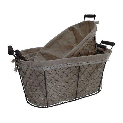 Fieldon Oval Lined Wire Basket