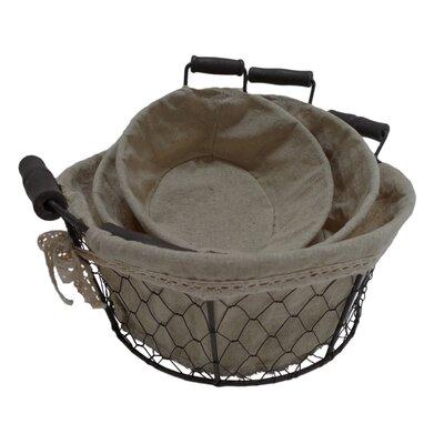 Fieldon Round Lined Wire Basket