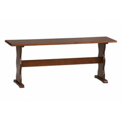 Patty Two Seat Bench Color: Walnut