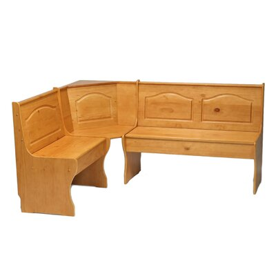 Patty Solid Wood Corner Corner Bench Color: Natural