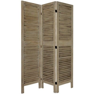 Jeanpierre Room Divider Color: Burnt Gray, Number of Panels: 3