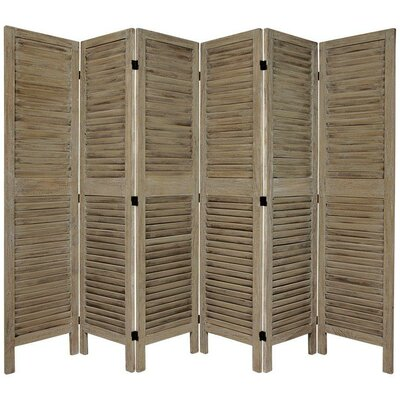 Jeanpierre Room Divider Color: Burnt Gray, Number of Panels: 6
