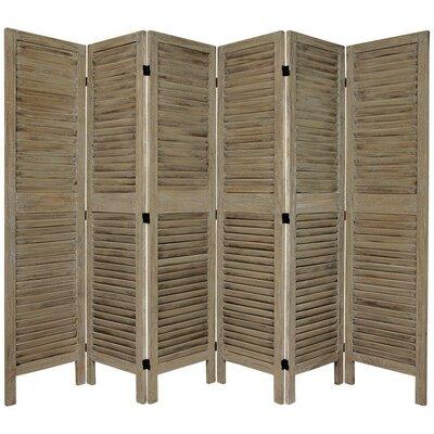 Jeanpierre Room Divider Color: Burnt Gray, Number of Panels: 6