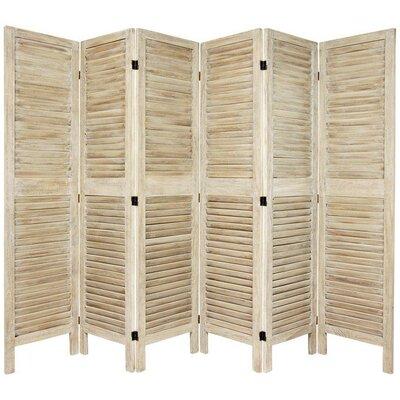 Jeanpierre Room Divider Color: Burnt White, Number of Panels: 6