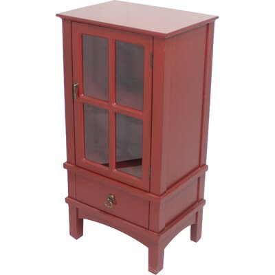 Litzy 1 Drawer Accent Cabinet Color: Red