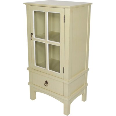Litzy 1 Drawer Accent Cabinet Color: Beige