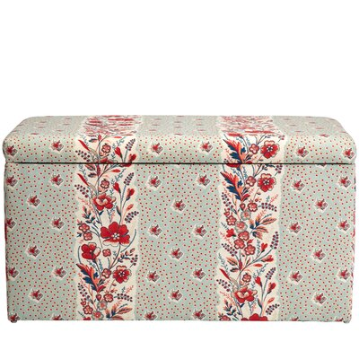 Nena Cotton Upholstered Storage Bench Color: Seagreen