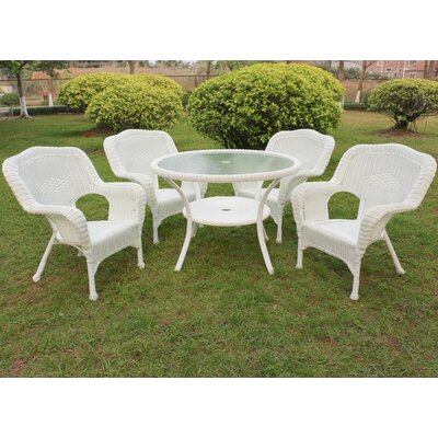 Ovalle 5 Piece Dining Set Color: White