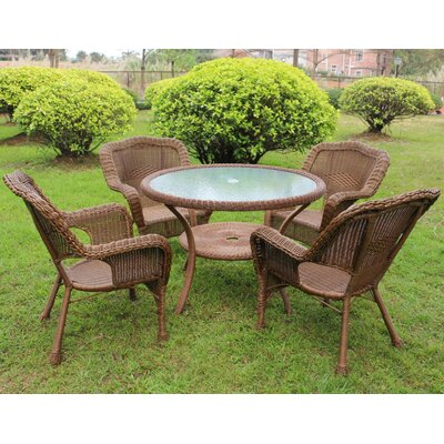 Ovalle 5 Piece Dining Set Color: Mocha