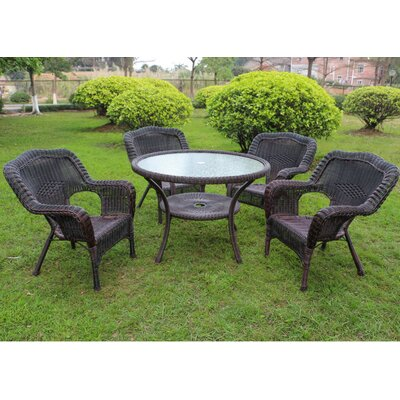 Ovalle 5 Piece Dining Set Color: Antique Pecan