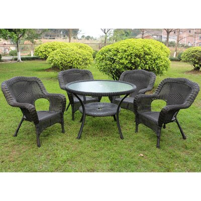 Ovalle 5 Piece Dining Set Color: Antique Black