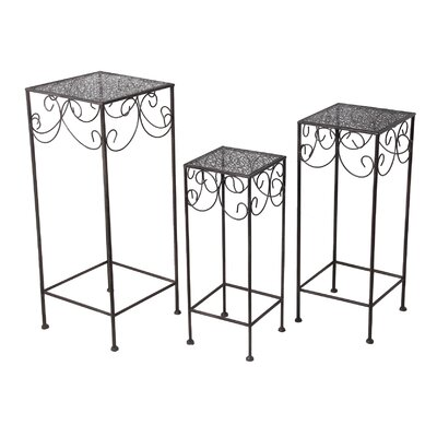 Persaud 3 Piece Pedestal Plant Stand Set