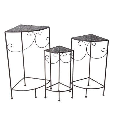 Pomerleau 3 Piece Corner Plant Stand Set