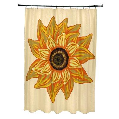 Essonne El Girasol Feliz Flower Print Shower Curtain Color: Yellow