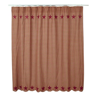Mancheer Cotton Shower Curtain Color: Burgundy