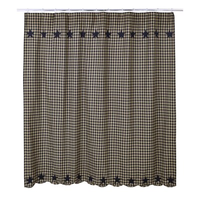 Mancheer Cotton Shower Curtain Color: Black