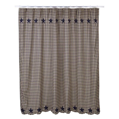 Mancheer Cotton Shower Curtain Color: Navy