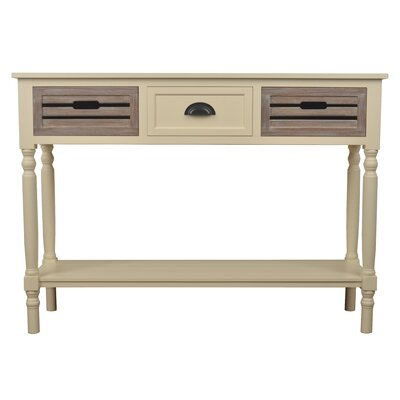Sonderborg Console Table Color: Cream