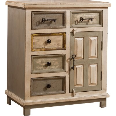 Union Point 5 Drawer 1 Door Cabinet