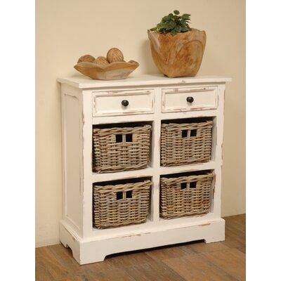 Brown / White Storage Rack with Baskets
