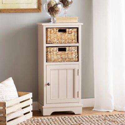 Dashwood 1 Door Accent Cabinet Color: Vintage Gray