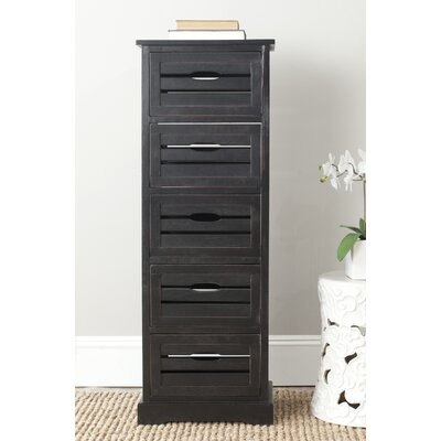 Maeline 5 Drawer Accent Chest Color: Black