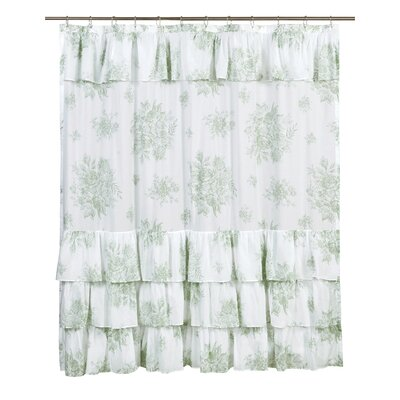 Amaranth Cotton Shower Curtain Color: Green