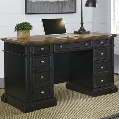 Collette Executive Desk Color: Black