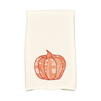 Ames Pumpkin Patch Holiday Print Hand Towel Color: Orange