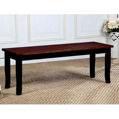 Marilou Wood Bench Color: Black