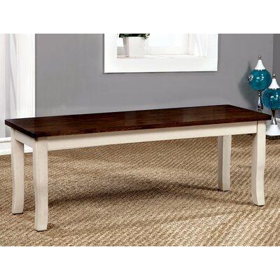 Marilou Wood Bench Color: Vintage White