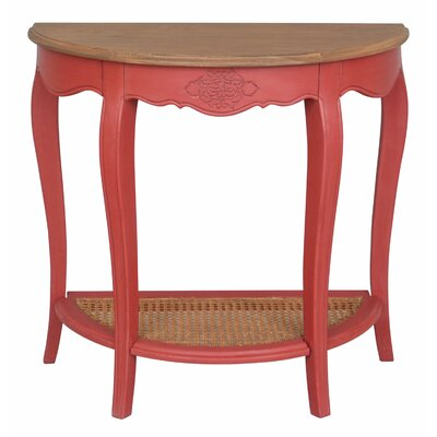 Madison Console Table Color: Antique Red