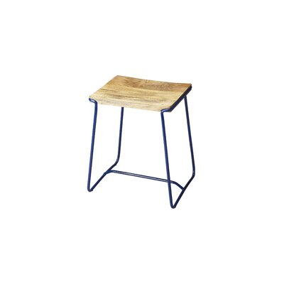 Miles City Accent Stool Base Color: Blue