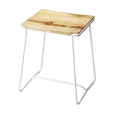Miles City Accent Stool Base Color: White
