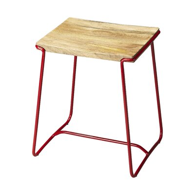 Miles City Accent Stool Base Color: Red