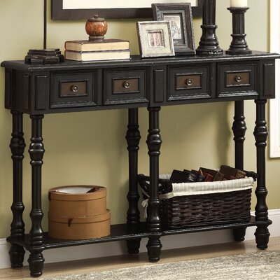 Kimberly Console Table Color: Antique Black