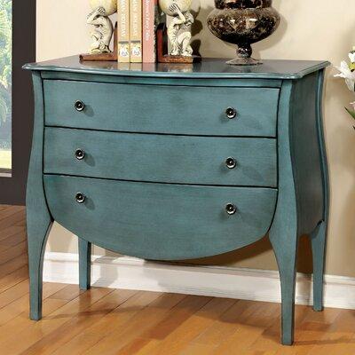 Lacour 3 Drawer Accent Chest Color: Blue