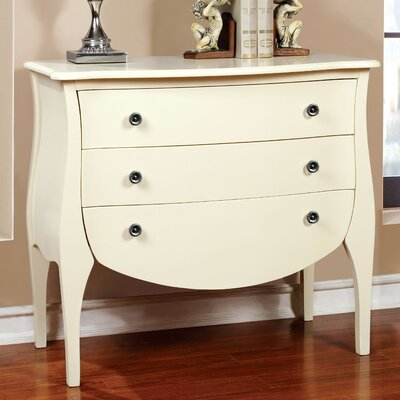 Lacour 3 Drawer Accent Chest Color: Ivory