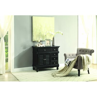 Lavin 5 Drawer Accent Cabinet Color: Black