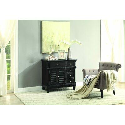 Lavin 5 Drawer Accent Cabinet Color: Black